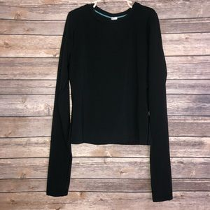 Ivivva Solid Black Long Sleeve Top size Girls 12